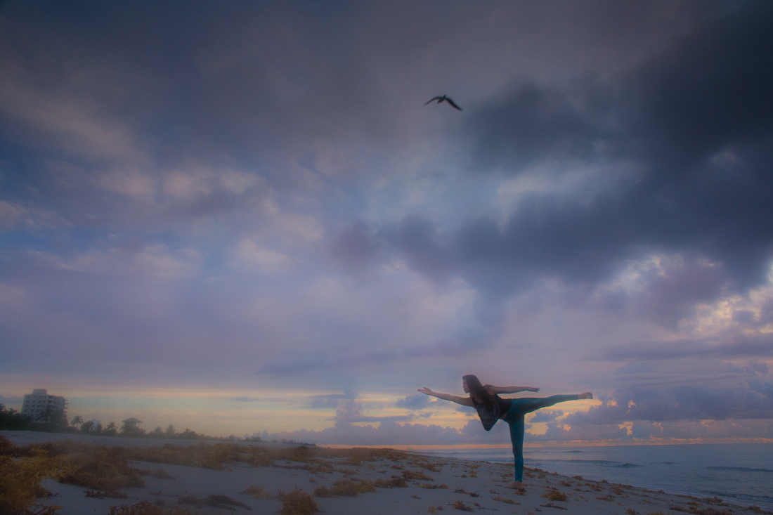Delray Beach Florida couples photography sunrise yoga instructors in love